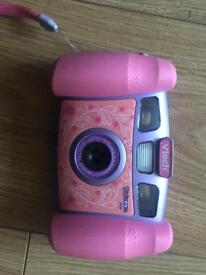 Vtech pink camera with games and video recorder
