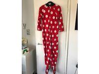 Ladies Minnie Mouse Pyjamas One Piece Size 8-10