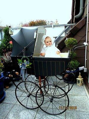 Sehr schöner alter Puppenwagen um 1910   Kinderwagen