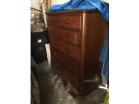 FREE - Large Victorian 6 drawer chest
