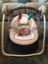 Ingenuity portable swing - excellent condition