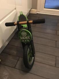 Boys army balance bike