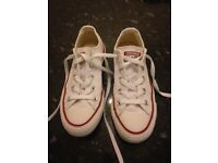 White Converse Size UK3