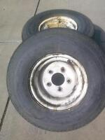 Trailer tires and rims 20.5X8-10