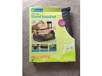 BNIB BRICA Fold N' Go Baby Bassinet/Travel Cot/ Travel Bed