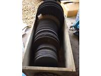 Job lot of metal and stone cutting/grinding discs