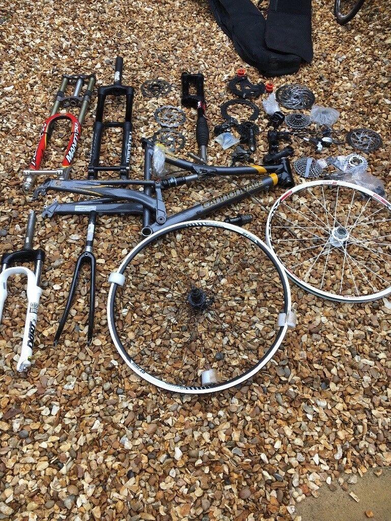 Cannondale frame and other bits joblot lefty forks   Onyx hub   in Dawlish,  Devon   Gumtree
