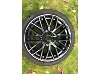 Audi A5 black edition wheel and tyre