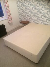 As new king divan base, with drawers.