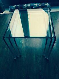 3 glass nest tables