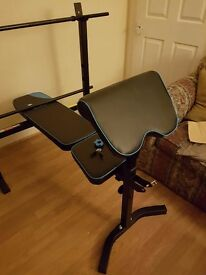Mens Health Folding Bench with 35KG Weights