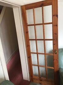 5 X 15 WOODEN GLASS PANEL DOORS