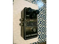 Ehx silencer, noise gate pedal for guitar and bass