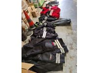 Moped motorbike delivery rider safety clothes jackets and trousers job lot