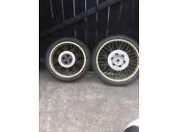 Mx motocross wheels complete front and rear