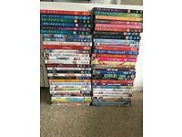 Over 100 DVDs for sale in bulk including romcoms, children's, series, comedies etc
