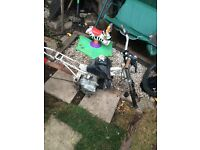 Pit bike frame wheels and engine