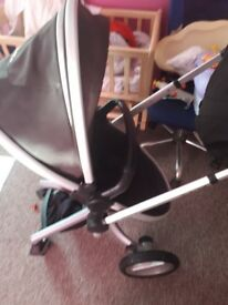 Reduced silver cross pram
