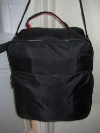 Black Fabric Shoulder Bag