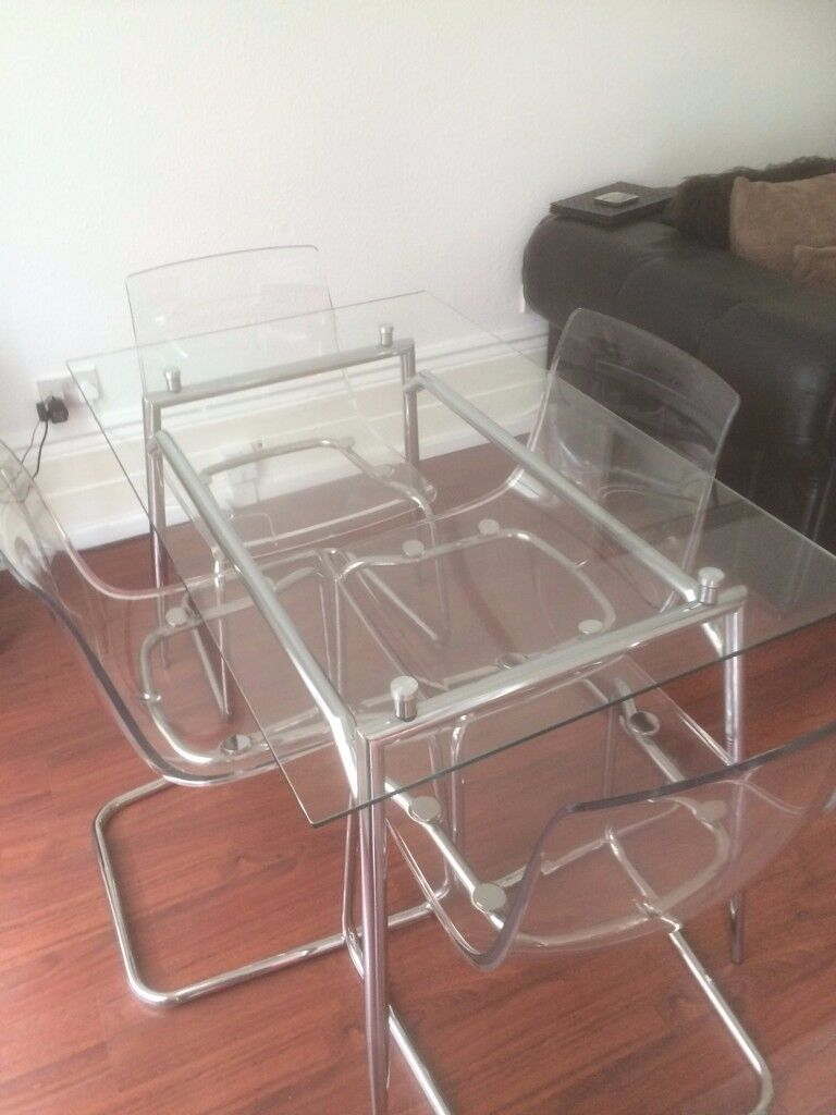 perspex furniture. Tobias Perspex Chairs And Glass Dinning Table Furniture