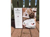 Alex Clark 12 Piece Rooster Dinnerware set