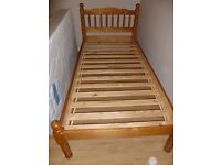 Pine single bed with slats - not flat pack