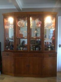 Larkswood real wood wall display unit