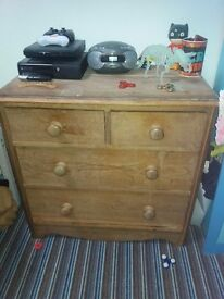 Drawers. Exellent condition. May need a sand down.