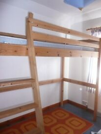 Ikea Single Loft Bed ,mattress included.