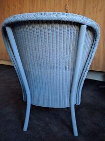 Blue Rattan Chair with Cushion