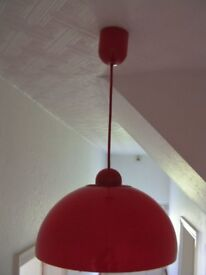 Stylish Red Ceiling Light VGC 100 Watt bulb max