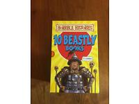 Horrible Histories 10 beastly books set