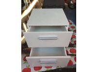 2 drawer bed side table