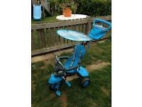 Blue Smart Trike.