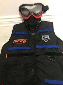 NERF TACTICAL VEST AND NERF RIVAL FACE MASK