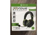Xbox One XO Four Stealth headset, boxed, unused