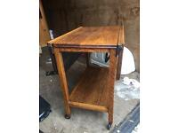 Extending wooden table / trolley
