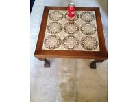 Moroccan hand made solid wooden coffee table can deliver.