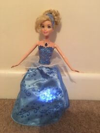 Light up Cinderella with glass slippers