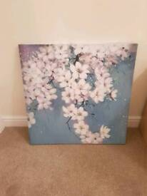 Floral Printed Wall Art Canvas