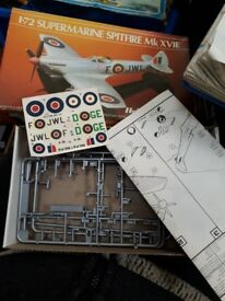 1:72 Supermarine Spitfire Mk XVIE box and instructions only. Plane kit