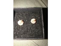 Ladies 9ct rose gold studs