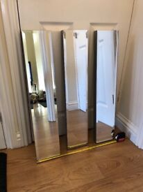 """DECORATIVE MIRRORS x3 6"""" W 30"""" H VGC HOME DINING HOUSE RENTAL DIY COLLECTION COLLIER ROW RM5"""