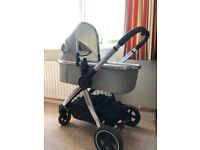 4-wheel Pram/stroller Grey/Silver Color