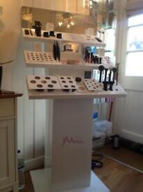 Mii professional makeup stand and testers