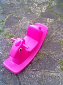 Little Tikes Pink Horse Rocker - Roundhay Park Leeds 8 - Can Deliver
