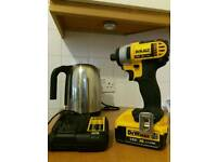 Dewalt lxt 18v impact drill 4ah battery and charger. Not Makita or Bosch impactor
