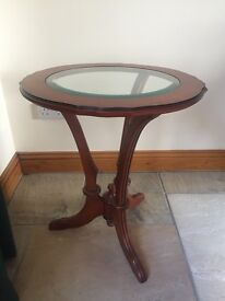 Glass top occassional table
