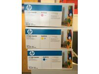 Original HP Toner Cartridges (set of 3) Q6001A + Q6002A + Q6003A for HP Colour LaserJet printer NEW