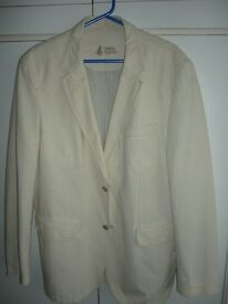 "two brand new quality men's blazers,(one beige)(one light brown)42"" chest,fit any tall person.lovely"